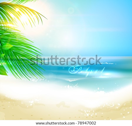 sea beach for summer design eps 10