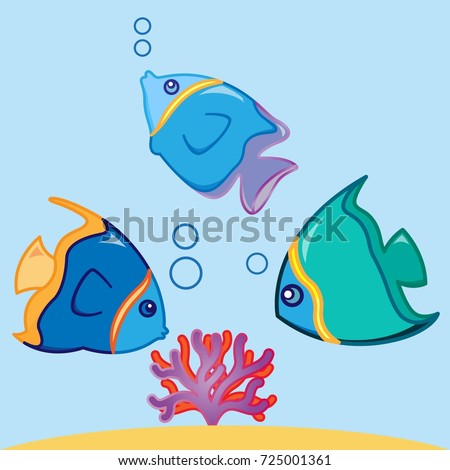 Cartoon illustration Gnomes and there fish friends Card ...