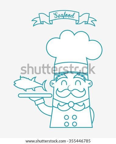 sea food design, vector illustration eps10 graphic  - stock vector