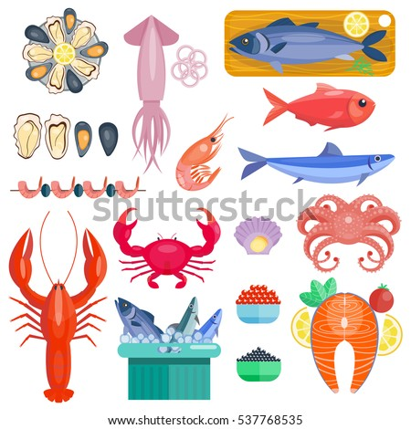 Crustacean stock images royalty free images vectors for Animals that are included in the cuisine of seafood