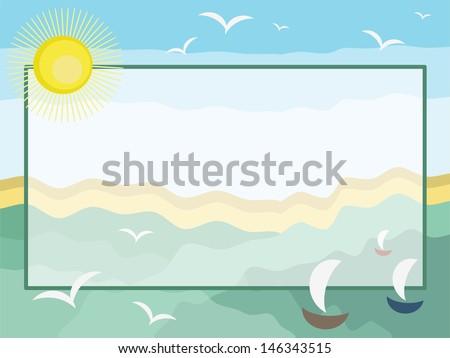 Sea frame. - stock vector
