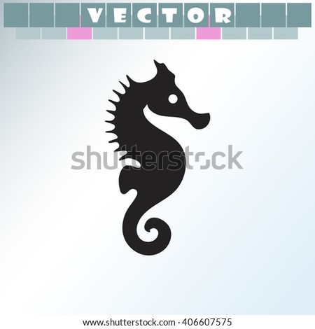 Sea Horse icon. Sea Horse vector. Simple icon isolated on light background. - stock vector