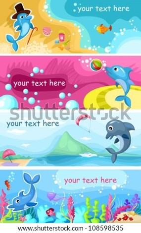 sea life background - stock vector