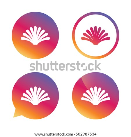 Sea Shell Sign Icon Conch Symbol Stock Vector 502987534 Shutterstock
