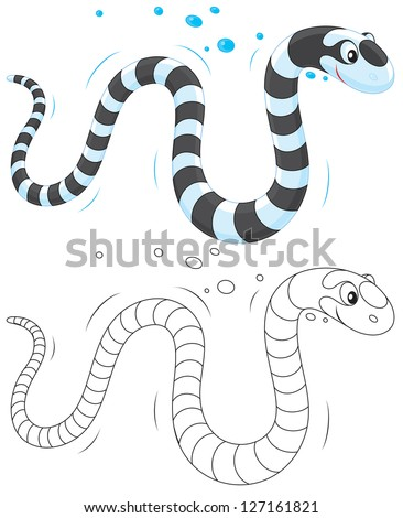 Sea snake - stock vector