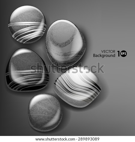 Sea stones. Vector eps 10. - stock vector