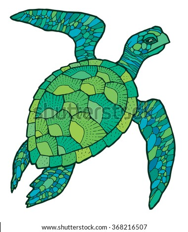 sea turtle vector stylized drawing stock photo photo vector rh shutterstock com sea turtle vector free download sea turtle vector free download