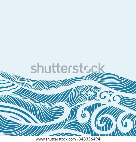 sea vector illustration stock vector 348336494 shutterstock rh shutterstock com sea vector pattern sea vector icon