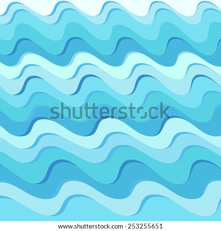 sea wave blue