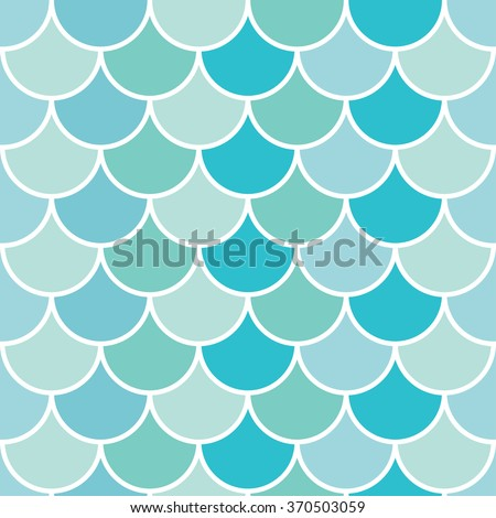 Sea wave blue geometric pattern. Seamless vector background. - stock vector