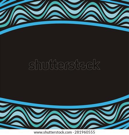 Sea wave nature pattern background vector illustration - stock vector