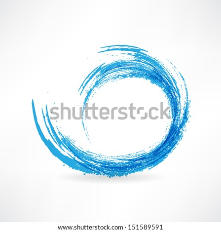 Sea wave. Painted with a brush. Design element. - stock vector