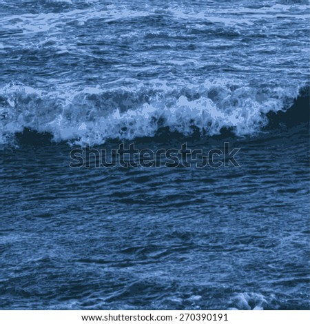sea wave. vector illustration. - stock vector