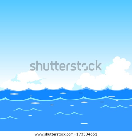 Sea waves background - stock vector