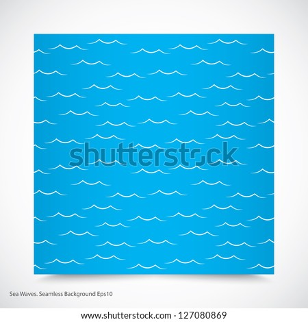 sea waves. seamless pattern. eps10 - stock vector