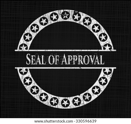 Seal of Approval chalk emblem - stock vector