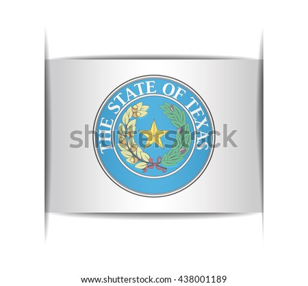 Seal of the state of Texas. Vector illustration of a stylized seal. The slit in the paper with shadows. Element for infographics. - stock vector