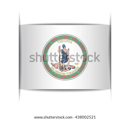 Seal of the state of Virginia. Vector illustration of a stylized seal. The slit in the paper with shadows. Element for infographics. - stock vector