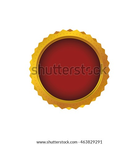 Seal stamp circle label icon. Isolated and flat illustration. Vector graphic