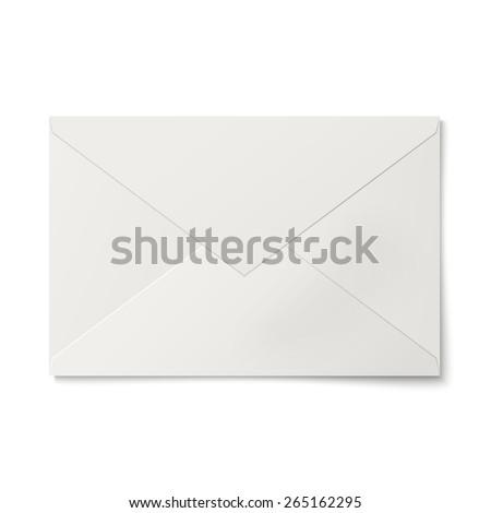 Sealed white envelope isolated on white background - stock vector