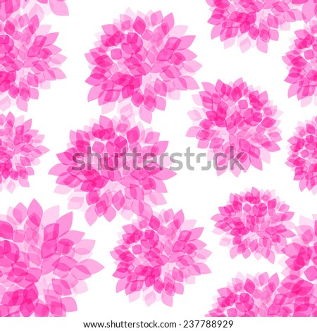 sealess pattern with pink flower. Not clipping mask - stock vector