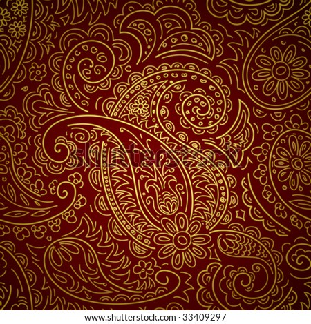 seamless a pattern in traditional east style - stock vector