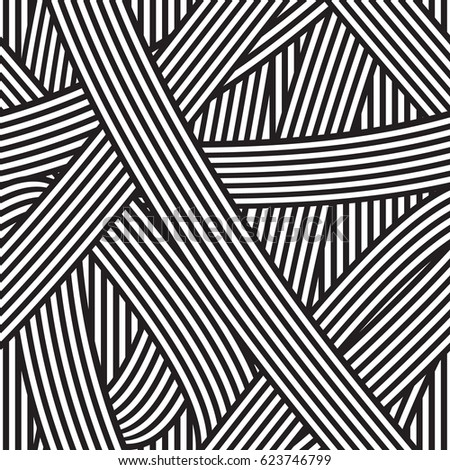 Seamless abstract background. Black and white stripes