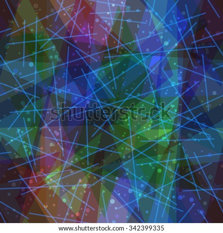 Seamless Abstract Background, Colorful Geometrical Figures and Lines. Eps10, Contains Transparencies. Vector - stock vector