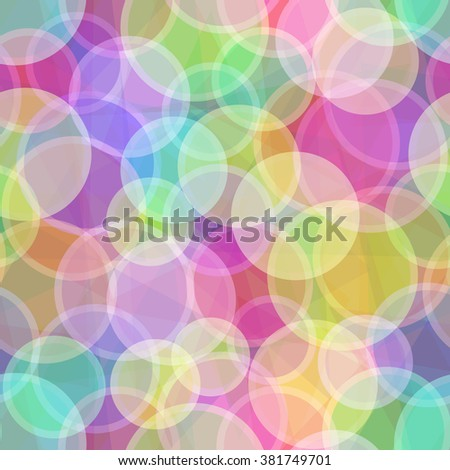 Seamless Abstract Background, Colorful Geometrical Figures, Circles and Rings. Eps10, Contains Transparencies. Vector - stock vector