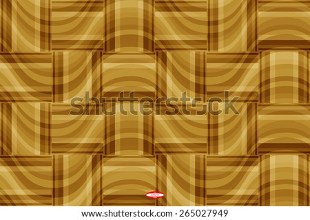 seamless abstract beige pattern golden texture with brown rectangle with cream line on  sand wicker background vector - stock vector