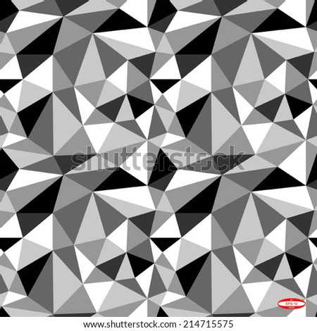 seamless abstract black white pattern with triangle vector