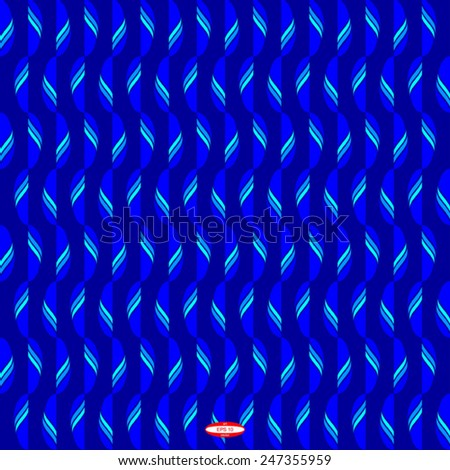 seamless abstract blue cyan pattern blue cyan texture with cyan line with blue leaf on navy background vector - stock vector
