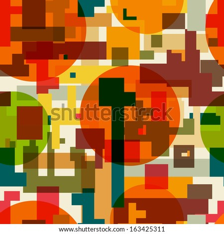 Seamless abstract bright geometric pattern - stock vector
