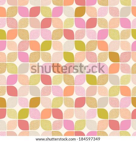 seamless abstract circles pattern - stock vector
