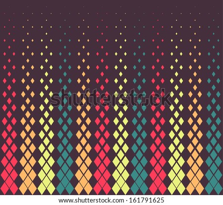 Seamless abstract color vector geometric pattern - stock vector