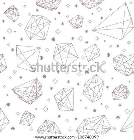 Seamless abstract crystal background - stock vector