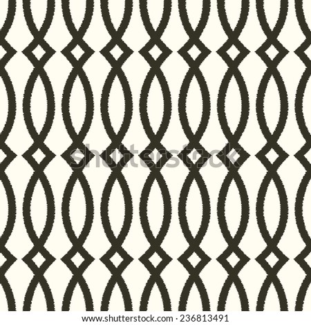 seamless abstract curve mesh pattern - stock vector