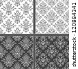 Seamless abstract damask pattern. Seamless pattern can be used for wallpaper, pattern fills, web page background,surface textures, wrapping paper. Floral textile background - stock vector