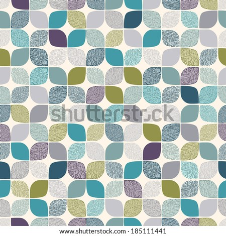 seamless abstract dots pattern - stock vector