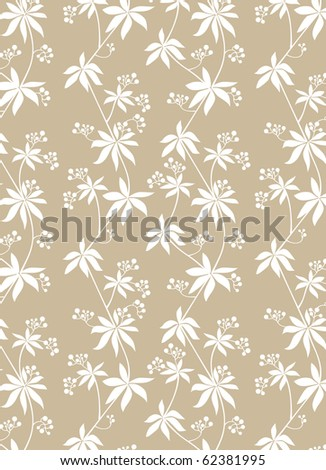 Seamless abstract floral background - vector include pattern source - easy to modify - stock vector