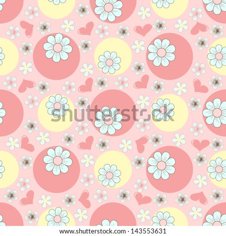 Seamless abstract floral illustration