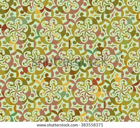 Seamless abstract floral interesting pattern. Can be used for wallpaper, pattern fills, greeting cards, webpage backgrounds, wrapping paper or fabric. Vector illustration. EPS 10. - stock vector