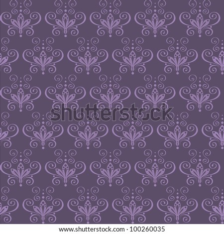seamless abstract floral ornament. vector illustration - stock vector