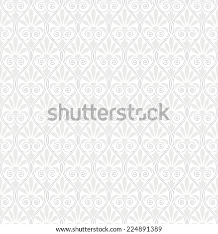 Seamless abstract floral pattern. Gray and white texture. - stock vector