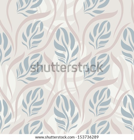 Seamless abstract floral pattern, pastel colored - stock vector