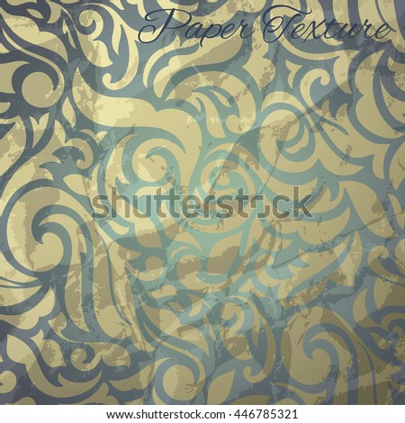 Seamless abstract floral pattern stylized like retro paper. Wallpaper in the style of Baroque - stock vector
