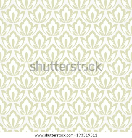 Seamless abstract floral pattern. Vector beige background. - stock vector