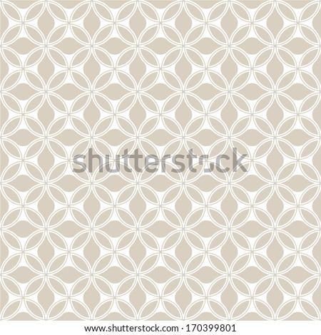 Seamless abstract floral pattern. Vector gray background. - stock vector