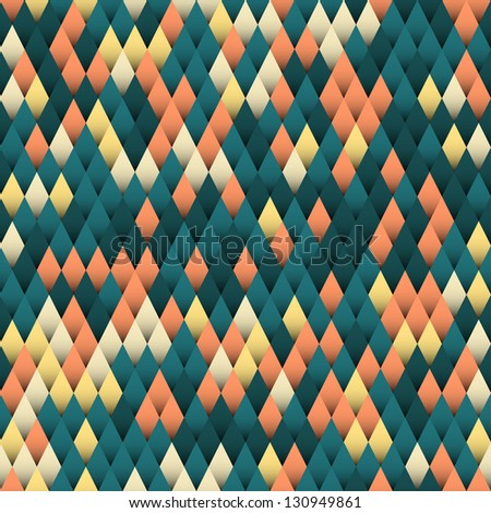 Seamless abstract geometric background, vector illustration - stock vector