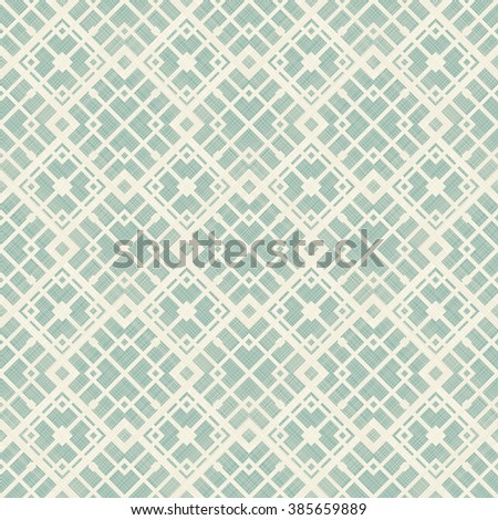seamless abstract geometric pattern in turquoise and beige - stock vector